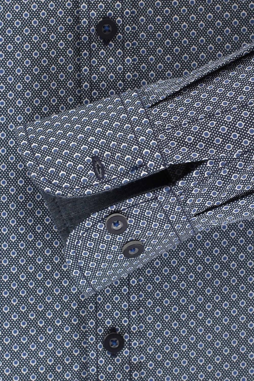 Casa Moda Casual Fit Shirt navy dots