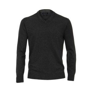 Casa Moda V-Neck Pullover - Dark Grey