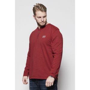 Replika Jeans - Granddad-shirt Wine Red