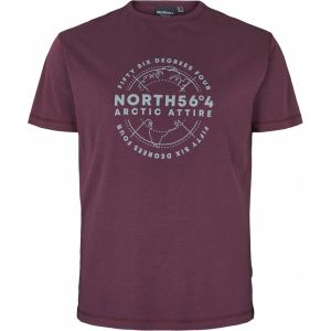 North 56˚4 T-Shirt - Artic Attire Aubergine