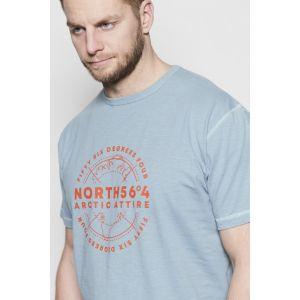 North 56˚4 T-Shirt - Artic Attire Dusty Blue