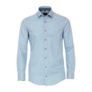 Venti Modern Fit Shirt - Aqua Stripe
