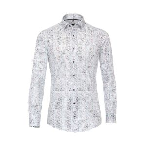 Venti Modern Fit Shirt - Dots Light