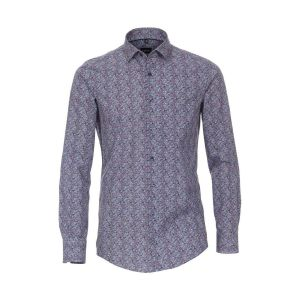 Venti Modern Fit Shirt - Blue Paisley