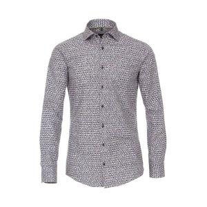 Venti Modern Fit Shirt - Dots Dark
