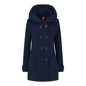Only M - Wool Wintercoat Short Dark Blue