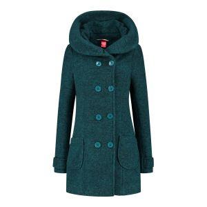 Only M - Wool Wintercoat Short Petrol