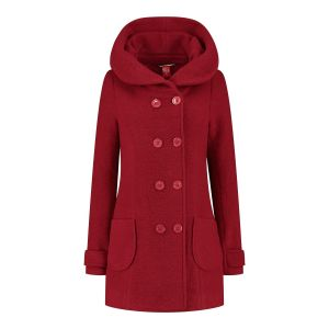Only M - Wool Wintercoat Short Red