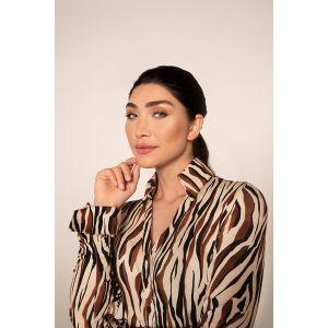 Chiarico - Blouse Liv Zebra Brown