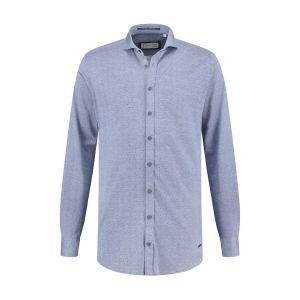 Blue Crane slim fit shirt - Blue melange