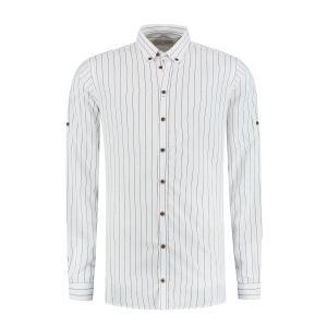 Blue Crane slim fit shirt - White Pinstripe