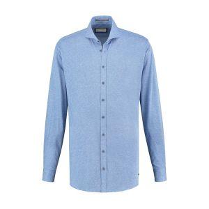 Blue Crane slim fit shirt - Sky blue melange