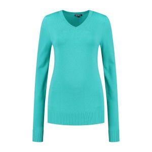 Casa Mia - V-Neck Sweater Aqua