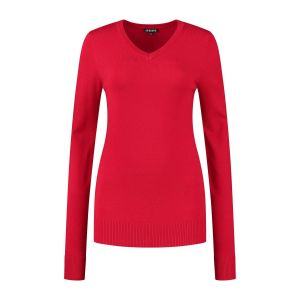 Casa Mia - V-Neck Sweater Red