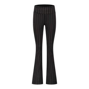 Chiarico - Flare Pants Black Chalk