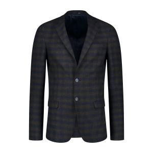No Limit Blazer - Garret Navy Charcoal Tartan