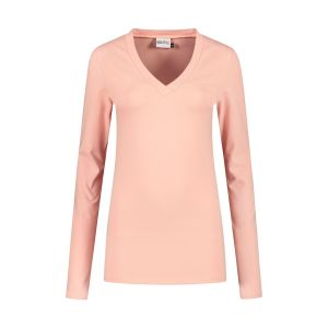 Highleytall - V-neck longsleeve shirt pink