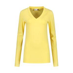 Highleytall - V-neck longsleeve shirt yellow