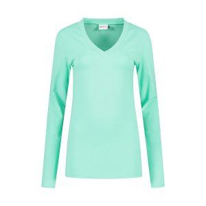 Highleytall - V-neck longsleeve shirt mint green