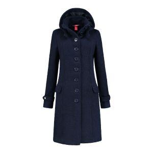 Only M - Wool Wintercoat Dark Blue