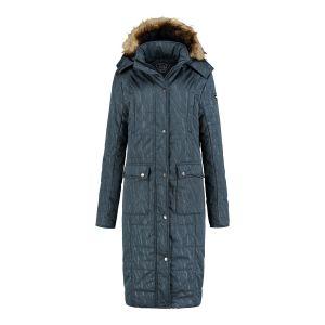 Brigg Long Quilted Coat - Dark Grey