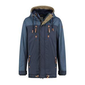 Brigg Winter Coat - Bicolor Blue
