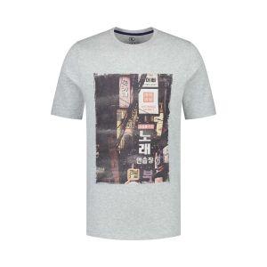 Kitaro T-Shirt - Neon Signs Grey Melange