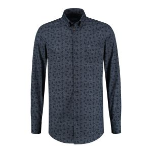 Ledûb Modern Fit Shirt - Navy Paisley
