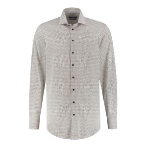 Ledûb Modern Fit Shirt - White/Multi