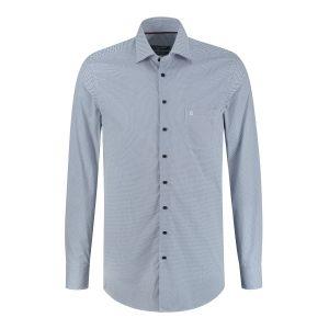 Ledûb Modern Fit Shirt - Navy Speckles