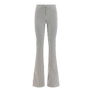 Madame Liz - Leggings Flared Stripe Black/white