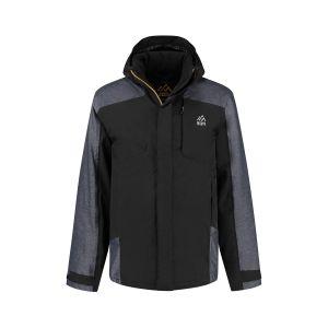 North 56˚4 - Ski Jacket Zwart/Grey