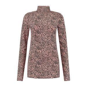 Only M - Turtleneck top pink leo