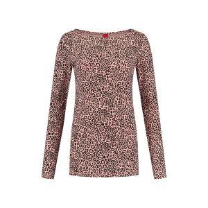 Only M - Boatneck top pink leo