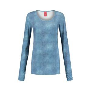 Only M - O-neck top blue melange