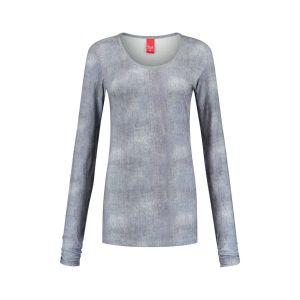 Only M - O-neck top grey melange