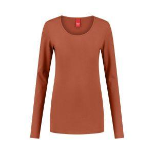 Only M - Basic O-neck top orange