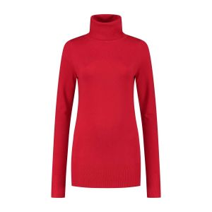 Only M - Basic Turtleneck Sweater Red