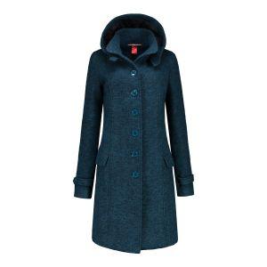 Only M - Wool Wintercoat Petrol