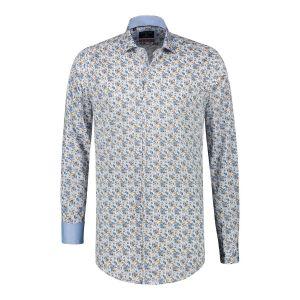 Corrino Shirt - Blue/brown pattern