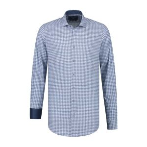 Corrino Shirt - Pattern Dark Blue