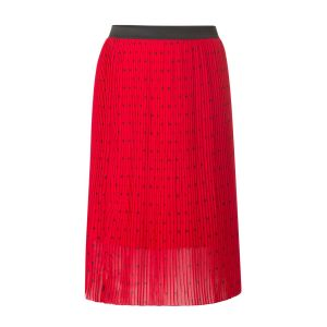 Yest Pleated Skirt - Tango Red